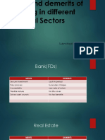 Merits and demerits of investing in different Financial Sectors (1)