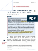 1. (2019). Association of Skipping Breakfast With Cardiovascular and All-Cause Mortality. Journal of the American College of Cardiology