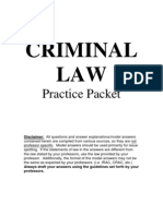 Criminal Law Practice Packet 2010