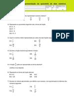 A fração como representação do quociente de dois numeros naturais