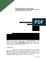 Impugnação - 2º Lançamento tributário IPTU - UNESC x PMC