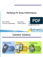 Verifying PV Array Performance Webinar, 3Dec2010