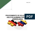 PROCEDIMIENTO DE SOLICITUD DE ASILO PARA VENEZOLANOS