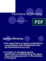 Importance of Officiating