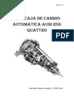 Tipo caja de cambio automática audi rs6 quattro