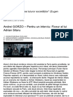Andrei GORZO – Pentru un interviu_ Fixeur al lui Adrian Sitaru _