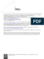 Gaining From Vertical Partnerships Knowledge Transfer, Relationship Duration, And Supplier Performance Improvement in the U.S. and Japanese Automotive Industries