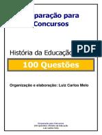 SIMULADO 100 QUESTÕES HISTÓRIA DA EDUCAÇÃO