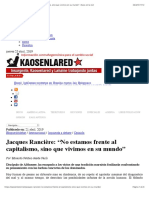 Rancière - Kaos en la red capitalismo