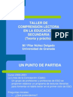 Taller de Comprension Lectora en Secundaria