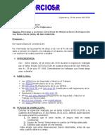 INFORME DE SEGURIDAD N° 62 ( DESCARGO DE OBSERVACIONES)