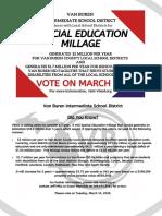 Van Buren County ISD Special Education Millage Flyer