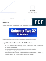 Program to Subtract Two 32 Bit Numbers -ProjectsGeek