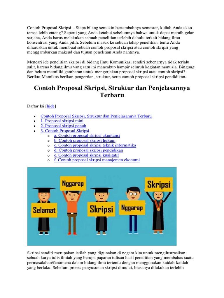Contoh Proposal Skripsi Docx