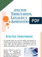 Aspectos Tributarios, Legales y Administrativos