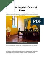 RESUMEN DE SANTA INQUISICIÓN