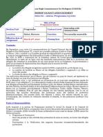Vacancy N°05-2020- Intern Programme  UNHCR