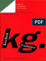 Koselleck y Gadamer. - Historia y hermeneutica [1997].pdf