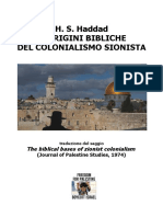 h. s. Haddad Le Origini Bibliche Del Colonialismo Sionista