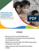 PB 2. 1 Fasilitasi Pemilihan & Pembimbingan KPM