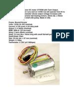 Buehler 4-wire precision DC motor