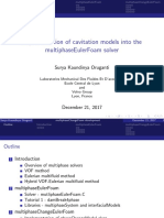 mplementation of cavitation models into themultiphaseEulerFoam solver