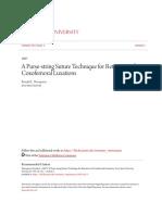 A Purse-string Suture Technique for Retention of Coxofemoral Luxa