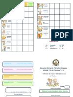 Modelo tarjeta de calificaciones- Nivel Preprimario