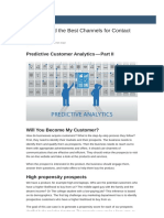 Predictive Customer Analytics - Recommend Best Channels