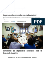 Empresarios Nacionales Documento fundacional