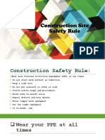 CONSTRUCTION SAFETY RULES