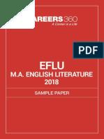 EFLU MA English Literature 2018