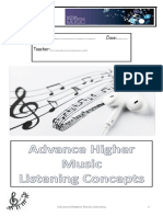 advanced higher music listening booklet 2020 to accompany sways on weebly