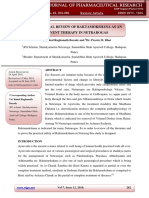 A CONCEPTUAL REVIEW OF RAKTAMOKSHANA AS AN ADJUVENT THERAPY IN NETRAROGAS WJPR