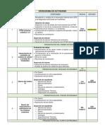 CRONOGRAMA DE ACTIVIDADES PTAP AZIRUNI