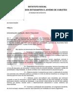 ESTATUTO ASSOCIAÇÃO DOS ESTUDANTES DE CUBATÃO