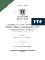 eye tracking investigación ROJAS - Contribución a la evaluación emocional en el diseño de productos mediante la integración ...