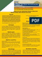 A PRESENÇA DAS BIBLIOTECAS UNIVERSITÁRIAS PÚBLICAS BRASILEIRAS NAS MÍDIAS SOCIAIS poster