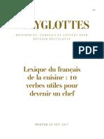 Polyglottes -Ressources, conseils et astuces pour devenir polyglotte-Lexique du français de la cuisine _ 10 verbes utiles pour devenir unchef