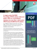 A single-socket Dell EMC PowerEdge R7515 solution delivered better value on a transactional database use case than a dual-socket HPE ProLiant DL380 Gen10 solution
