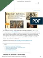 Thomas Hobbes_ El Leviatán - ¡¡RESUMEN CORTO!!