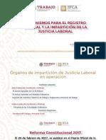 Organismos para el Registro Sindical y la Impartición de Justicia