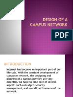 Presentation Design of a campus network
