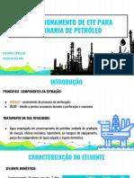 Dimensionamento de ETE para refinaria de petróleo