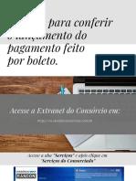 Manual para conferir o lançamento do pagamento feito por boleto