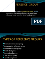 Consumer Behaviour Reference Groups