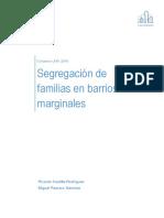 Segregación de familias en barrios marginales
