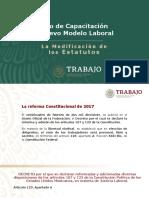 Foro de capacitación sobre el nuevo modelo laboral (Modificación de estatutos)