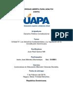 UNIDAD IV Los derechos fundamentales y su regulación en la Constitución Dominicana