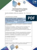 Guia de actividades y Rúbrica de evaluación - Unidad 1 - Fase 3 - Elaboración - A